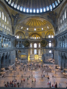 The Hagia Sophia, first a church then a mosque, always breathtaking