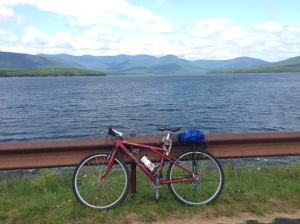 Happy bike = Happy life. Ashoken Reservoir path has no cars and gorgeous views