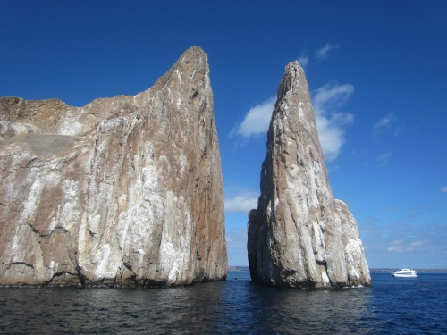 The boat on the right gives a sense of scale. WOW. WE snorkeled through the channel -  sharks/turtles/rays/ridiculousness.