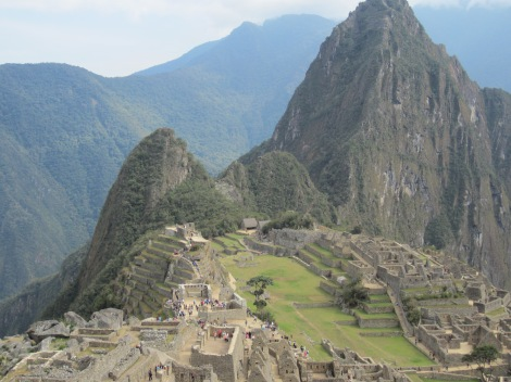 Machu Picchu! We also climbed the tall peak behind it, Wayna Picchu.